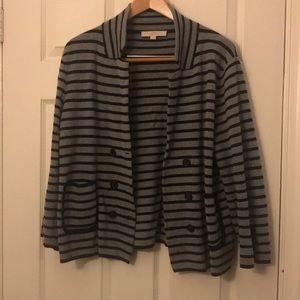 Black and grey blazer